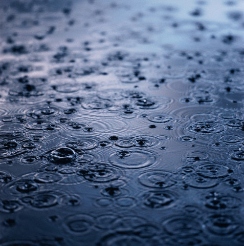 Raining on Puddle of Water